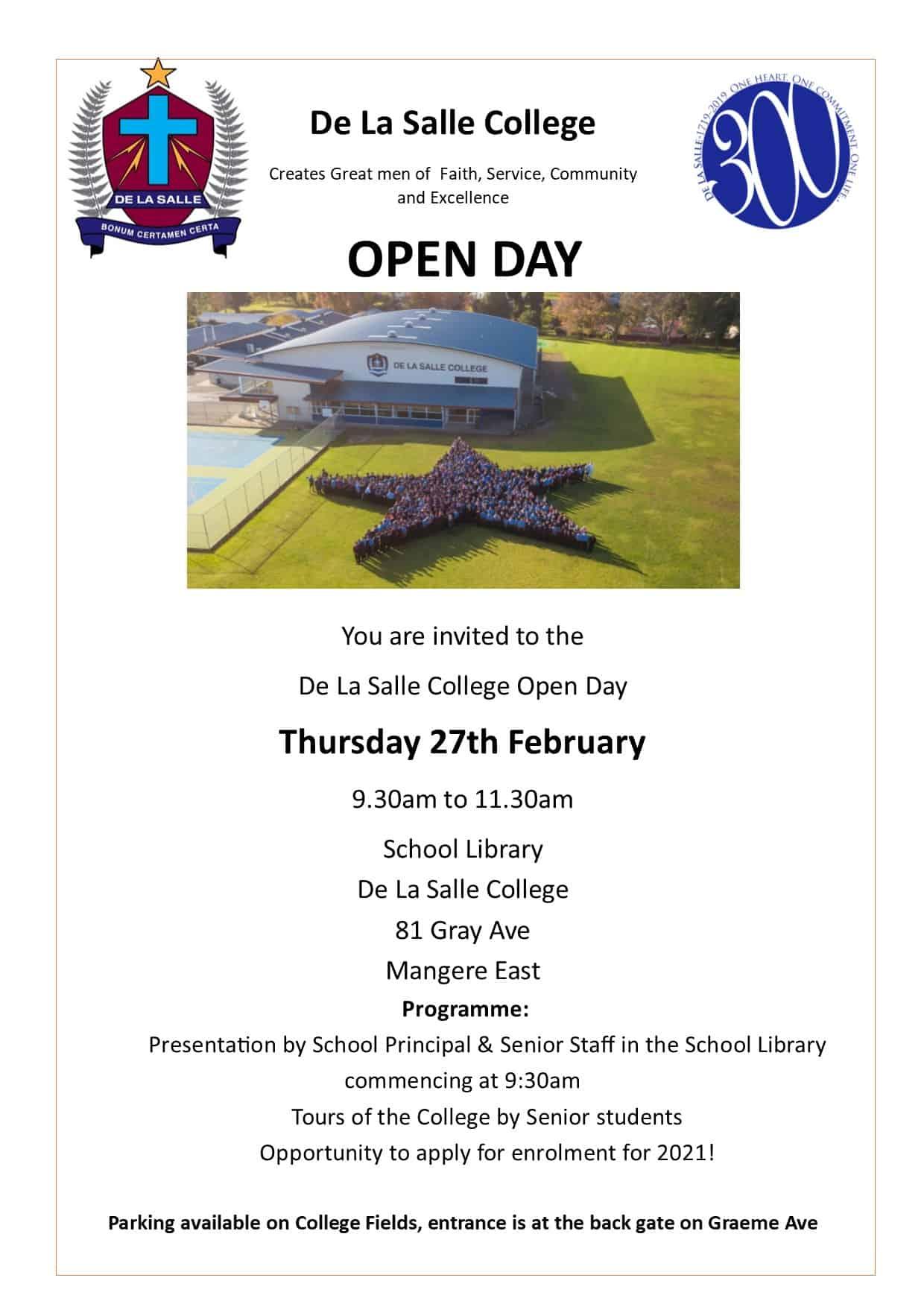 De La Salle College Open Day 2020